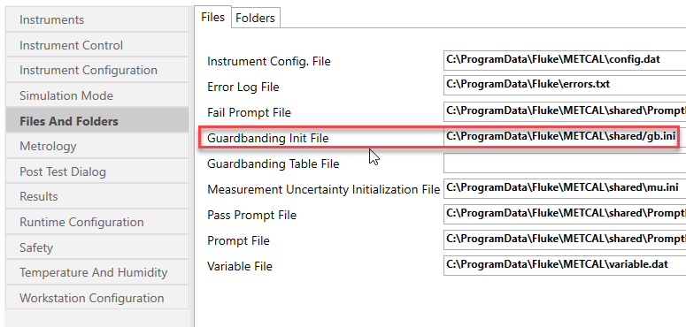 How to Change your Verification and Guardbanding Settings for MET