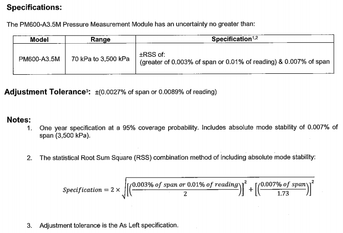 Pm600 absolute mode uncertainty understanding the rss formula below is some supporting info and the formula for absolute mode uncertianty on a pm600 module sample calibration certificate altavistaventures Images