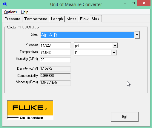 This Temperature And Pressure Is Ideally Obtained By Measuring It At The Dut Unit Of Measure Converter Can Be Used To Obtain Density As Follows