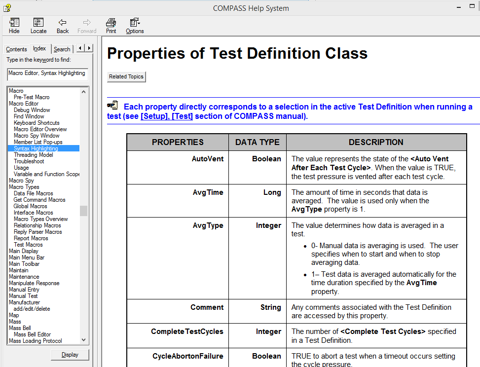 test write-up definition