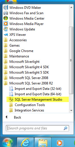 How to manually back up a MET/TEAM database (SQL Server 2008R2